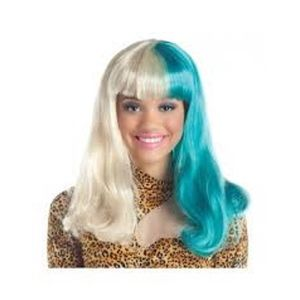 Aqua/Blonde Wig (One Size)